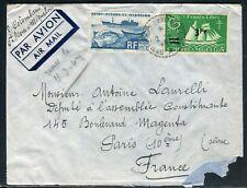 Saint Pierre et Miquelon - Enveloppe pour Paris en 1948 - ref D154