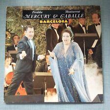 vinilo Freddie Mercury & Montserrat Caballé Barcelona maxisingle LP 1987 spain