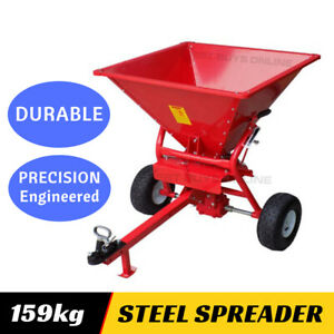 Fertiliser Spreader Broadcast Fertilizer Seed Heavy Duty 159 kg Tow Behind ATV