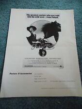 THE FRISCO KID(1979)GENE WILDER HARRISON FORD ORIGINAL PRESSBOOK & AD MATS