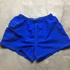 WATER SAFETY PRODUCTS 80s VTG Lifeguard Swim Trunks Shorts Surf High Cut L Glanz
