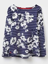 Joules Harbour Print Jersey Top (x) 48hr TRACKED Delivery 12 French Navy Posy Stripe