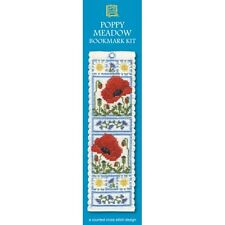 Poppy Meadow Flowers Bookmark Counted Cross Stitch Kit Textile Heritage