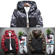 2017 HOMBRE CAMUFLAJE abrigo sudaderas Informal chaqueta ropa cortavientos