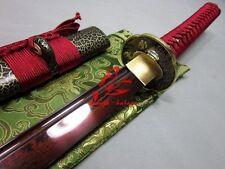 battle ready jp samurai katana sword folded steel blade seabird tsuba sharpened