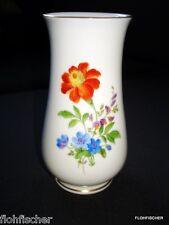 Vase ca. 14,5 cm  Blume 3 mit Goldrand  Meissen Porzellan