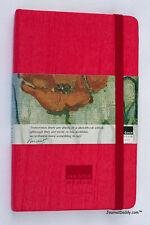 Moleskine Red Silk Shantung Lined Notebook Van Gogh Museum Circa 2002 Near Mint