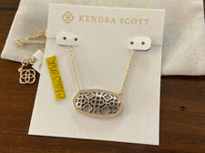 NWT Kendra Scott Dollie Pendant Necklace Gold & Silver Filigree