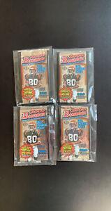 (4) Bowman 2000 NFL Football Hobby OPENED Pack Brady Rookie Year LOT