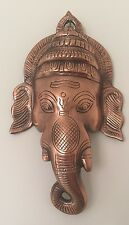 Ganesh Face Ganesha LARGE  Wall Hanging 9'' Bronze Elephant God Hinduism