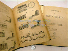 MILITARIA: MINISTERO della GUERRA 1872 Fortificazione Topografia Truppe TAVOLE