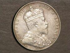 STRAITS SETTLEMENTS 1907H 1 Dollar Silver XF-AU