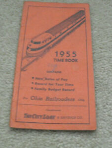 Vintage 1955 Booklet Time Book for Ohio Railroaders Only