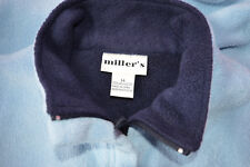 ladies pre owned sleeveless vest by millers. size 14 colour blue polyester