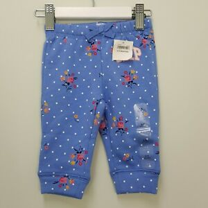 BABY GAP Girls Size 3-6 Mths Floral Print Track Pants NEW + TAGS