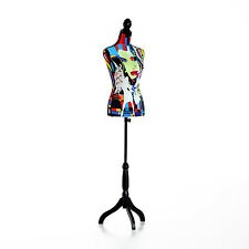 HOMCOM Female Dress Form Mannequin Torso Height Adjustable Clothes Display Base