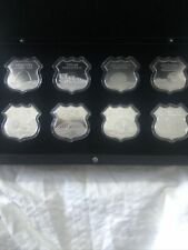 More details for full set of 8 .999 1oz silver shield icons of route 66