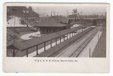 Beaver Falls PA - P&LE RAILROAD STATION - Postcard