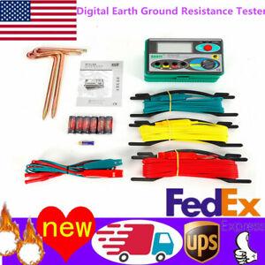 DY4100 Digital Earth Ground Resistance Tester Meter 0~20/200/2000Ω ±(2%+3) US