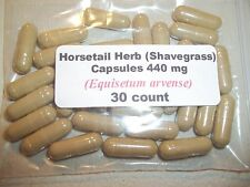 Horsetail Herb Powder Capsules - Shavegrass (Equisetum Arvense) 440 mg  30 count