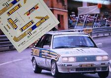"DECAL CALCA 1/43 RENAULT R11 TURBO ""CORRECAMINOS"" CAMPEON DE ESPAÑA DE PROD 1987"