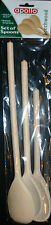 "BEECHWOOD WOODEN SPOONS SET OF 3 (10"" 12"" 14"") COOKING UTENSIL APOLLO BRAND"