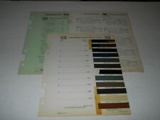1938 HUDSON TERAPLANE PAINT CHIP CHART COLORS SHERWIN WILLIAMS PLUS MORE
