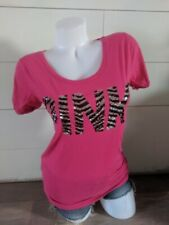 PINK by Victoria's Secret Pink Sequin Logo Top Shirt Casual S