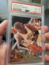 1995-96 Fleer Michael Jordan Total D #3 PSA 8