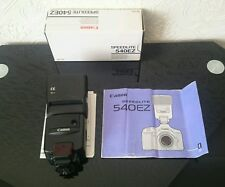 Canon EOS SPEEDLITE 540EZ Flash Zoom automatico con manuale originale BOX CASE ** Nuovo di zecca **