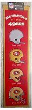 """San Francisco 49ers NFL Casque Evolution 8"""" X 32"""" laine Heritage Mur Bannière"""