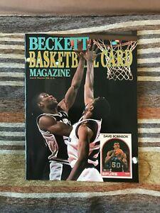 1990 Beckett Basketball Price Guide #2 David Robinson Cover NM cond