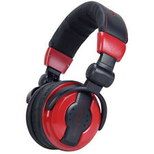 ADJ American DJ HP 550 Professional Over‑Ear Studio Headphones Lava + Carry Bag