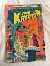 World of Krypton #1 2 3 1979 Superman Comic Book Set 1-3 Complete Series