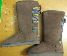 Women's Lamo Suede and Cloth Boots Size 7 1/2 Worn Once