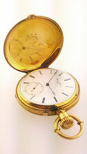 James Nardin  of  Locle 18k Yellow Gold Hunters Pocket Watch