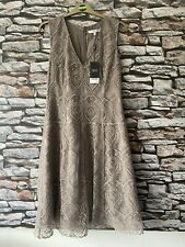 Next Taupe Lace DRESS SIZE 12 Holiday Cruise Wedding Cocktail Races Party BNWT