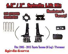 """2005 - 2016 Toyota Tacoma 6 Lug / Prerunner 6.5"""" / 3"""" Lift Kit Spindles, Brakes"""