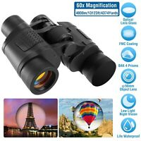 Portable Night Vision 60X60 HD Binoculars Hunting Camping Telescope Outdoor+Bag
