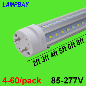 V Shape LED Tube Bulb 2ft 3ft 4ft 5ft 6ft T8 G13 Light Retrofit Fluorescent Lamp