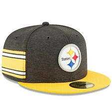 """PITTSBURGH STEELERS New Era 59FIFTY Sideline Hat Baseball Cap Fitted 7 1/8"""""""