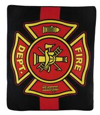 Fire Department Red Line Throw Blanket Fire Department Blanket Red Line Throw