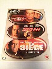 Broken Arrow / Speed / The Siege (DVD, 2003, 3-Disc Set) region 2 uk dvd
