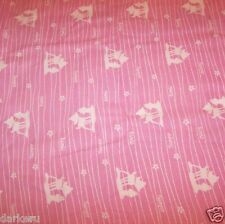 Disney BAMBI Collection with THUMPER and BAMBI on PINK and WHITE striped flannel