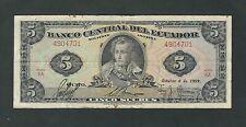 Ecuador - 1959, 5 Sucres