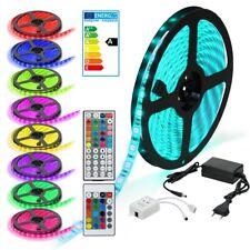 Leiste Strip Streifen Band+ Fernbedienung+Netzteil 1m-30m 5050 SMD 30/60 LED RGB