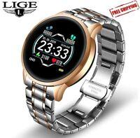 LIGE 2020 New Smart Watch Men Waterproof Sport Heart Rate Blood Pressure Fitness