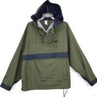 Gap Green Nylon Pullover Jacket Size Small Mens Anorak Style Lightweight Euc