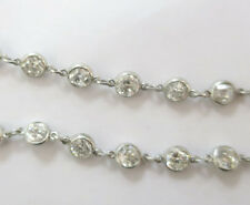 14.06 ct Round Diamond By The Yard Platinum Necklace, 25 inch, F-G, SI1 old cut