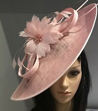 NIGEL RAYMENT PINK DISC HAT WEDDING ASCOT MOTHER OF THE BRIDE OCCASION